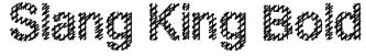 Slang King Bold Font