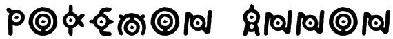 Pokemon: Annon Font