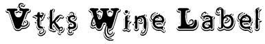 Vtks Wine Label Font