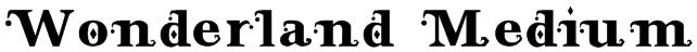 Wonderland Medium Font