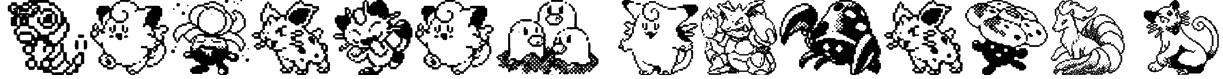 Pokemon pixels 1 Font