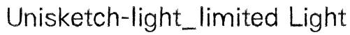 Unisketch-light_limited Light Font