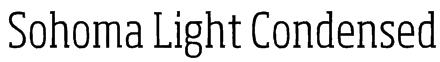 Sohoma Light Condensed Font