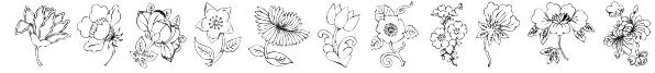 KR Floral Color Me 2 Font