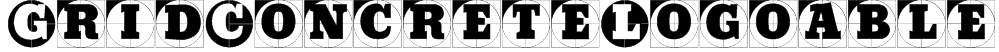 GridConcreteLogoable Font