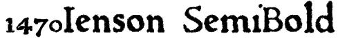 1470Jenson SemiBold Font