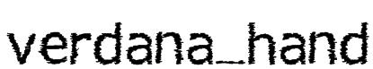 verdana_hand Font