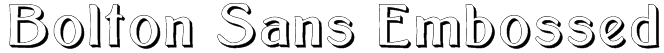 Bolton Sans Embossed Font