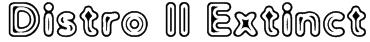 Distro II Extinct Font