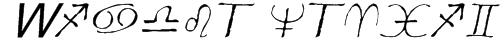 Widget Italic Font