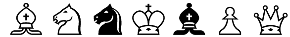 Chess Alpha Font