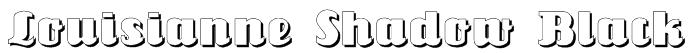 Louisianne Shadow Black Font