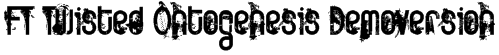 FT Twisted Ontogenesis Demoversion Font