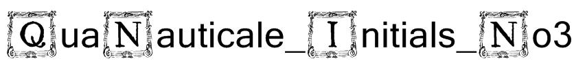 QuaNauticale_Initials_No3 Font