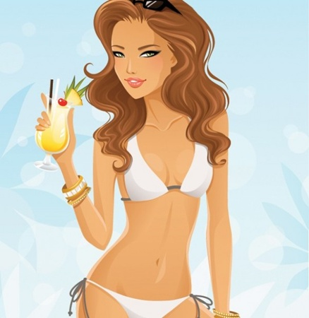 cocktail,creative,design,download,elements,eps,graphic,illustration,illustrator,new,original,vector,web,detailed,interface,girl,unique,vectors,sexy,bikini,quality,stylish,fresh,high quality,ui elements,hires,bathing suit,pretty girl,summer girl vector
