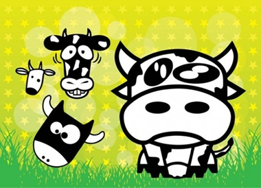 creative,design,download,elements,eps,graphic,illustrator,new,original,set,vector,web,detailed,funny,interface,grass,unique,vectors,quality,stylish,fresh,high quality,ui elements,hires,cartoon cows,comical cows,cow faces,cows,cows vector,funny cows,pasture vector
