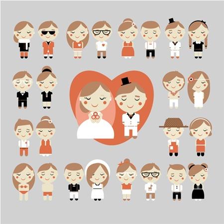 boy,card,couple,love,man,vector,woman,cartoon,girl,wedding,vectors,characters,avatars,boy girl,wedding couple vector