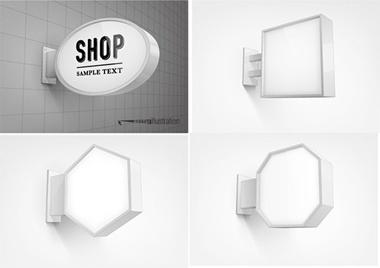 advertising,billboard,sign,vector,wall,vectors,ads,light box vector