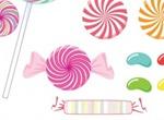 Lollipop Sweet Heart Candies Vector Set
