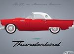 Classic Red 1957 Thunderbird Car Vector