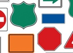 16 Various Road Signs Vector Shapes