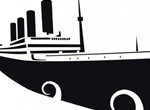 Titanic Silhouette Vector Illustration