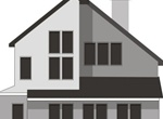 Modern Two Story House Vector Illustration