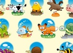 12 Cute Cartoon Animals Vector Set