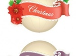 5 Christmas & Lace Ornament Vector Banner