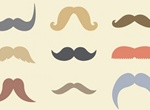 9 Cookie Duster Moustaches Vector Set