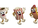 3 Cartoon Movie Theatre Snack Bar Vector Treats