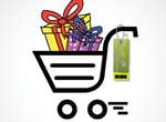 Loaded Shopping Cart Vector Illustration