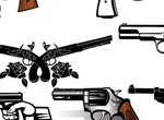 9 Detailed Vector Guns And Pistols Set