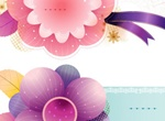 Fresh Floral Card Elements Vector Set