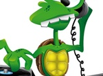 Crazy Cartoon Turtle DJ Vector