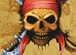Pirate Skull With Sword And Dagger Graphic
