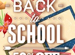 Welcome Back To School Sale Graphic