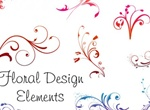 Delicate Floral Design Ornaments