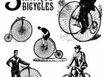5 Antique Bicycles & Riders Vector Graphics