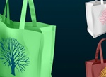 3 Nature Tree Shopping Bag Vector Graphic
