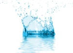 Crystal Blue Water Splash Vector