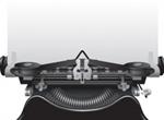 Antique Vector Typewriter Illustration