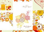 9 Exquisite Hand Painted Patterns Vector