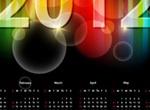 Sparkly 2012 Calendar Vector