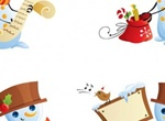4 Cheerful Christmas Snowman Vector Cartoons
