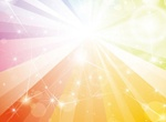 Rainbow Galaxy Vector Background