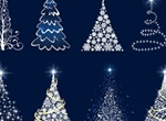 Sparkling Abstract Christmas Tree Vectors