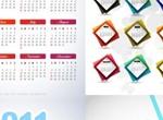 4 Beautiful 2011 Calendars In Vector