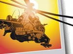Combat Apache Helicopter Vector Graphic