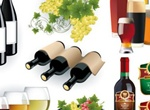 Wine & Beer Bottle Glass Vector Graphics